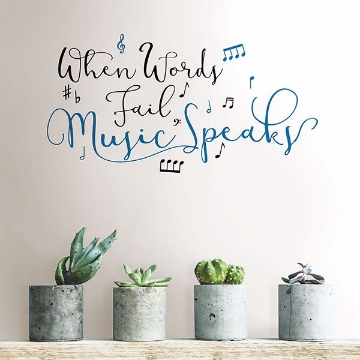 Picture of Music Speaks Wall Quote Decals