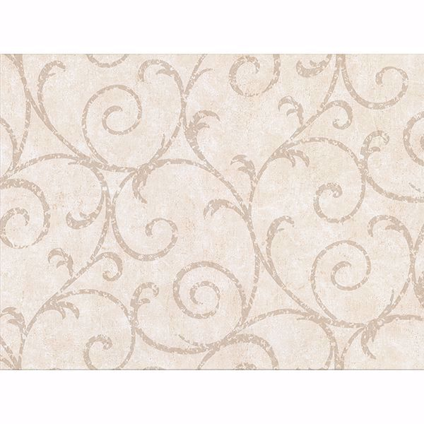 Picture of Sansa Cream Plaster Scroll Wallpaper