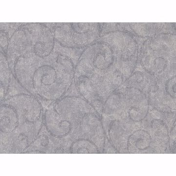 Picture of Sansa Slate Plaster Scroll Wallpaper