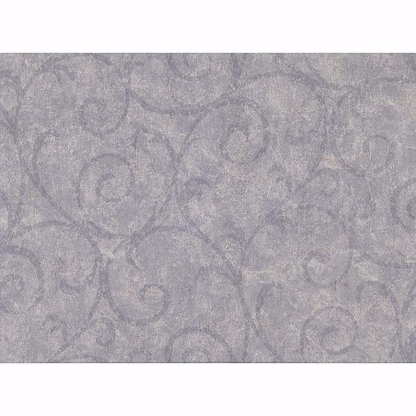 Picture of Sansa Slate Plaster Scroll Wallpaper
