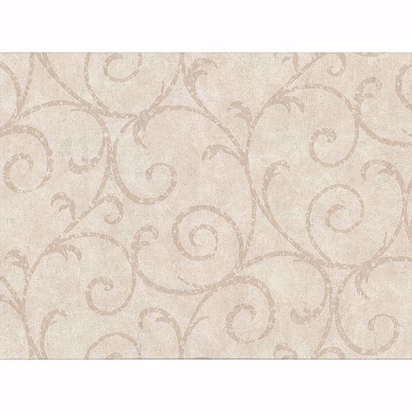 Picture of Sansa Beige Plaster Scroll Wallpaper