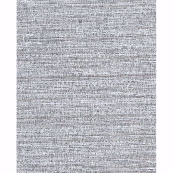 Picture of Tyrell Grey Faux Grasscloth Wallpaper