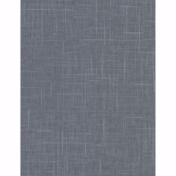 Picture of Stannis Teal Linen Texture Wallpaper