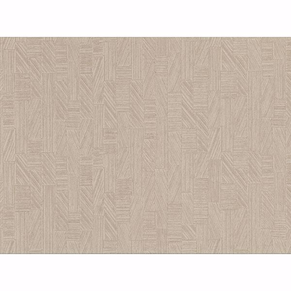 Picture of Kensho Beige Parquet Wood Wallpaper