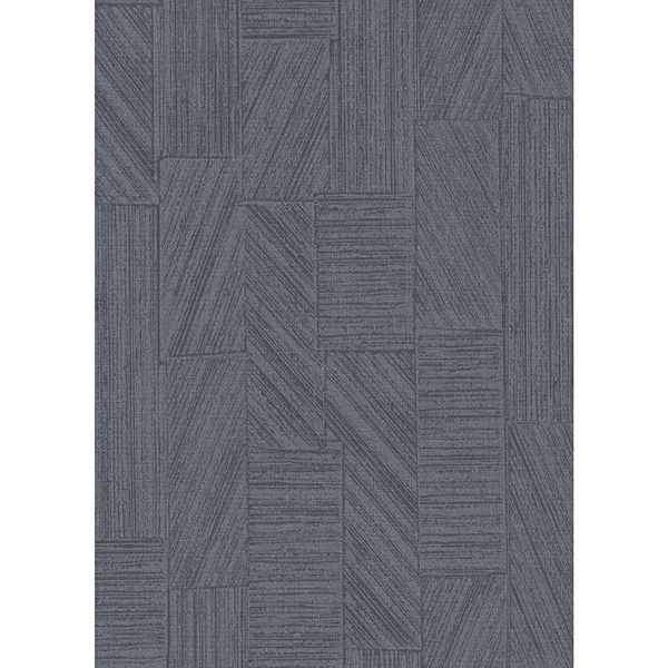 Picture of Kensho Charcoal Parquet Wood Wallpaper