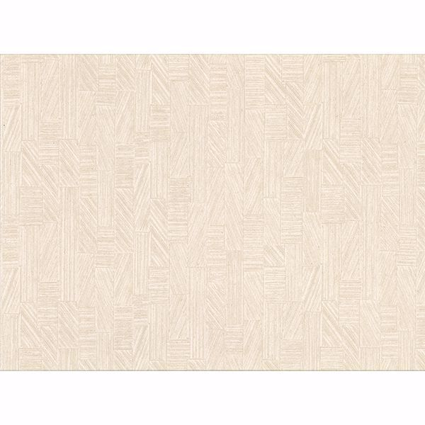 Picture of Kensho Cream Parquet Wood Wallpaper