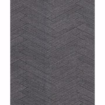 Picture of Karma Charcoal Herringhone Weave Wallpaper
