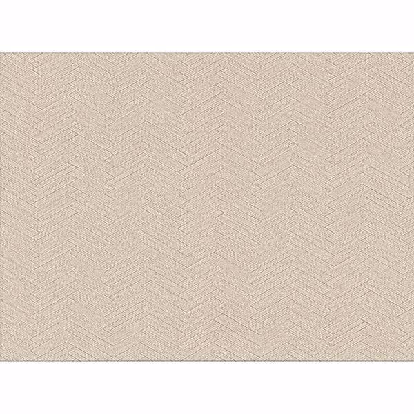 Picture of Karma Beige Herringhone Weave Wallpaper