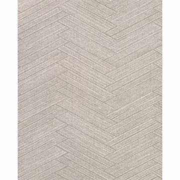 Picture of Karma Light Grey Herringhone Weave Wallpaper