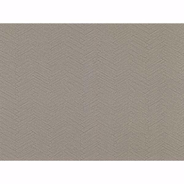 Picture of Karma Brown Herringhone Weave Wallpaper