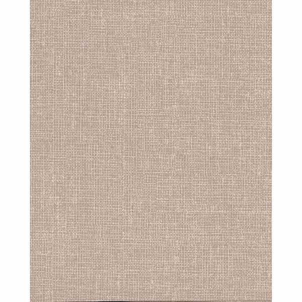 Picture of Arya Light Brown Fabric Texture Wallpaper
