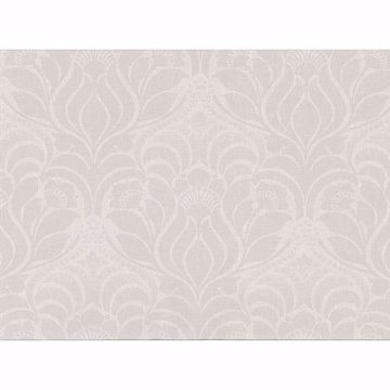 Picture of Sandor Ivory Damask Wallpaper
