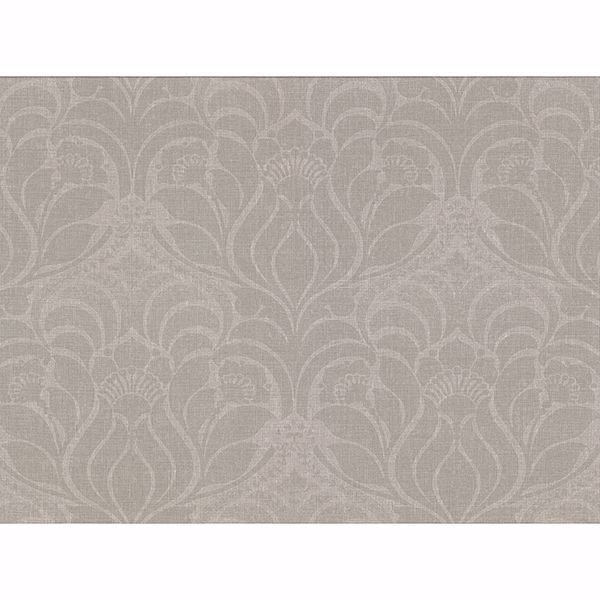 Picture of Sandor Grey Damask Wallpaper