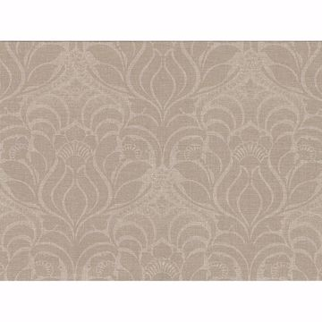 Picture of Sandor Light Brown Damask Wallpaper