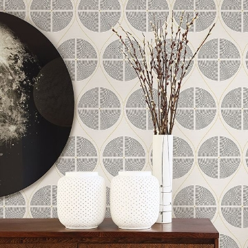 Picture of Luminary Grey Ogee Wallpaper