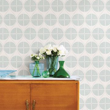Picture of Luminary Aqua Ogee Wallpaper