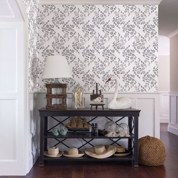 Picture of Arabesque Grey Floral Trail Wallpaper