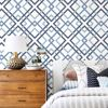 Picture of Saltire Emile Blue Lattice Wallpaper