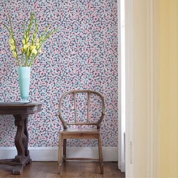 Picture of Giverny Red Miniature Floral Wallpaper