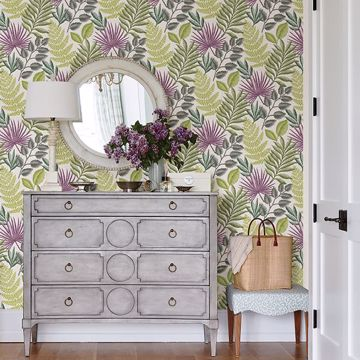 Picture of Palomas Green Botanical Wallpaper