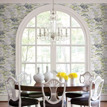 Picture of Joy De Vie Green Toile Wallpaper