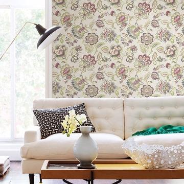Picture of Corona Green Jacobean Wallpaper