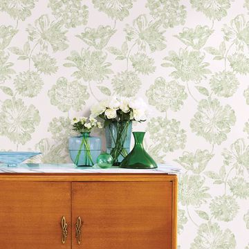 Picture of Folia Light Green Floral Wallpaper