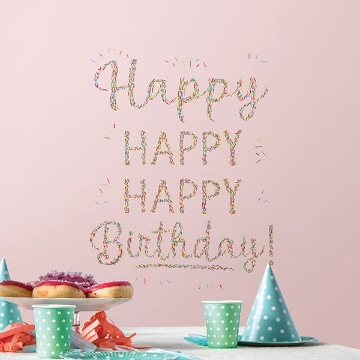 Picture of Happiest Birthday Wall Art Kit