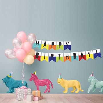 Picture of Party Animals Wall Art Kit