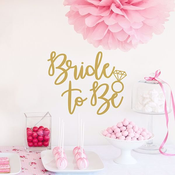 Picture of Bride to Be Wall Quote Decals