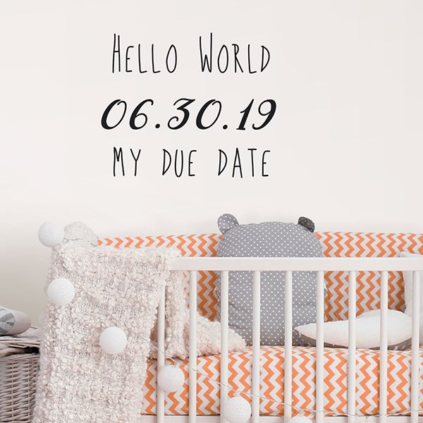 Picture of Due Date Wall Quote Decals