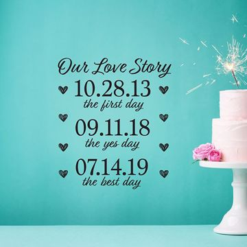 Picture of Our Love Story Wall Quote Decals