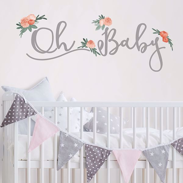 Picture of Oh Baby Wall Quote Decals