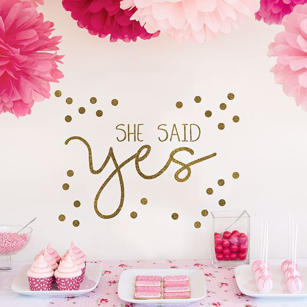 Picture of She Said Yes Wall Quote Decals