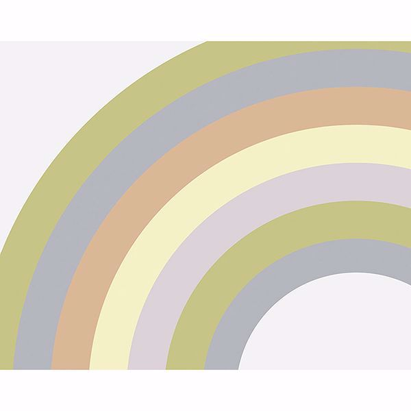 Picture of Pastel Rainbow Wall Mural