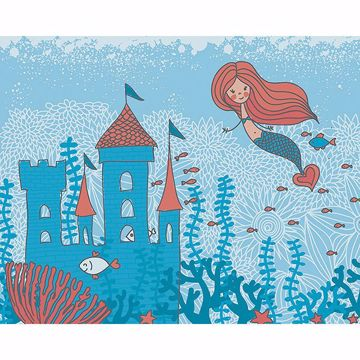 Picture of Mermaid Castle Wall Mural