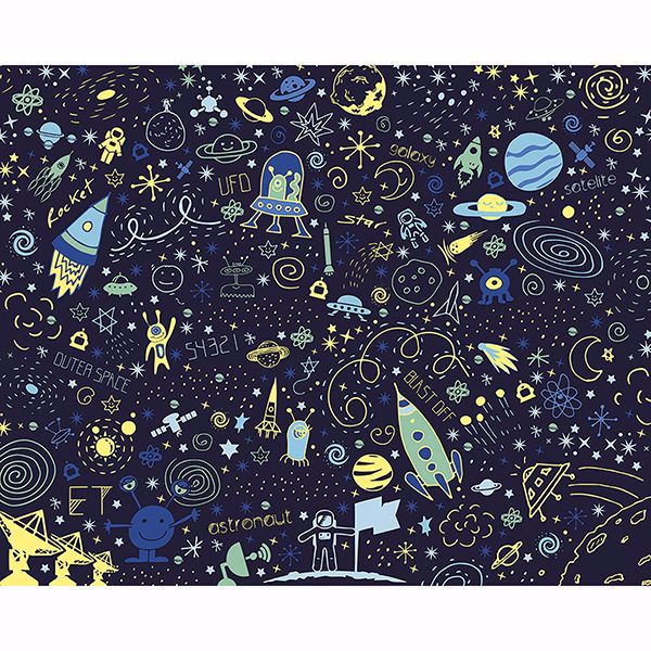 Picture of Space Doodle Wall Mural