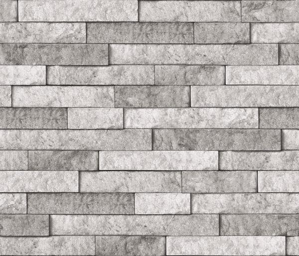 Picture of Grey Stone Peel & Stick Backsplash Film - View