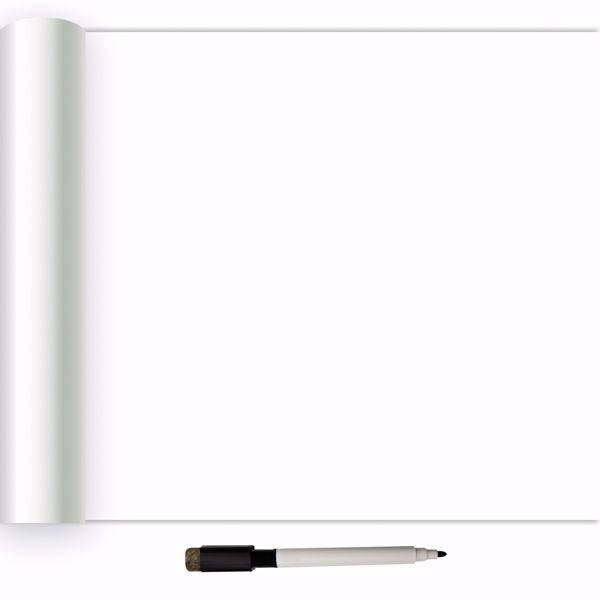 Picture of White Dry Erase Peel & Stick Wallpaper - View