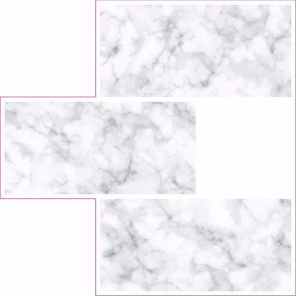 Picture of Subway Carrara Peel & Stick Backsplash Tiles - View