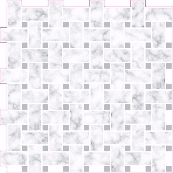 Picture of Basketweave Carrara Peel & Stick Backsplash Tiles - View