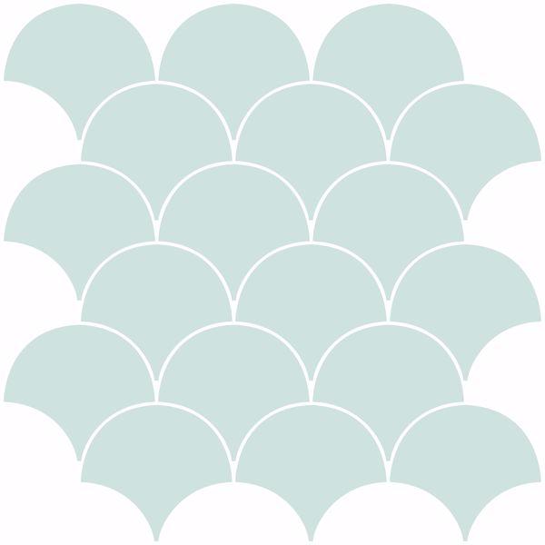 Picture of Shell Peel & Stick Backsplash Tiles - View