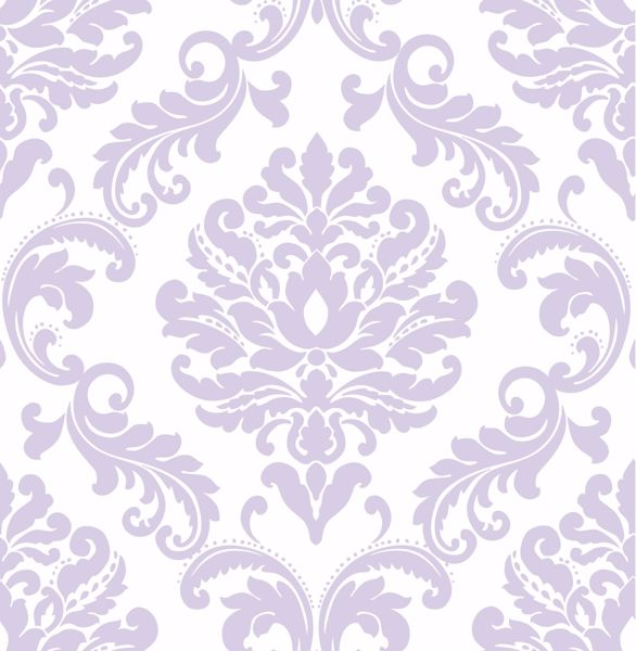 Picture of Purple Ariel Peel & Stick Wallpaper - View