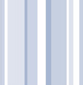 Picture of Blue Awning Stripe Peel & Stick Wallpaper - View