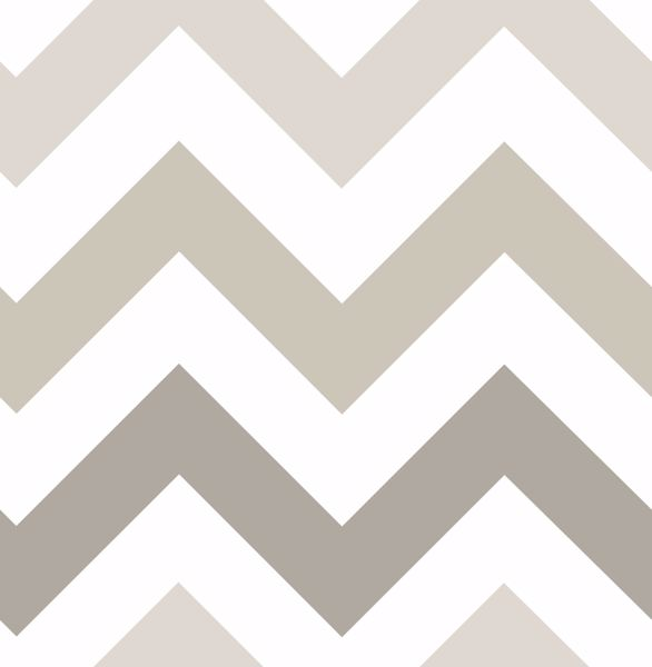 Picture of Taupe Zig Zag Peel & Stick Wallpaper - View