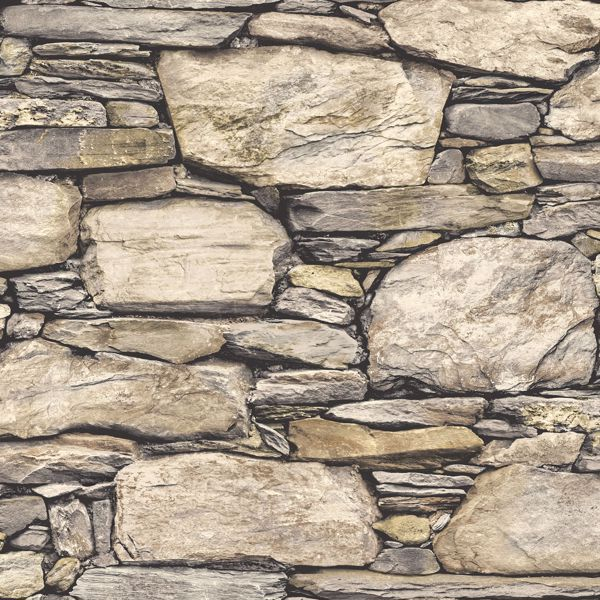 Picture of Hadrian Stone Wall Peel & Stick Wallpaper - View