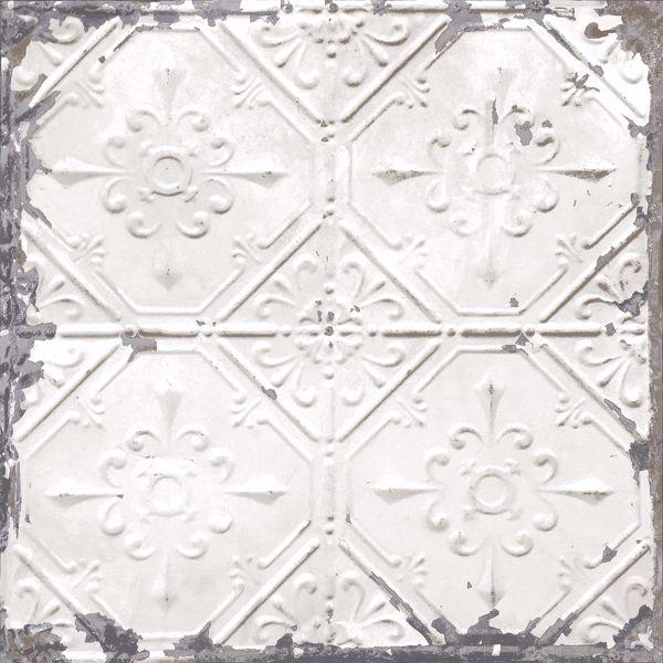 Picture of Vintage Tin Tile Peel & Stick Wallpaper - View