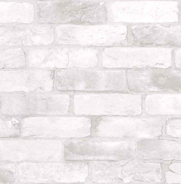 Picture of Loft White Brick Peel & Stick Wallpaper - View