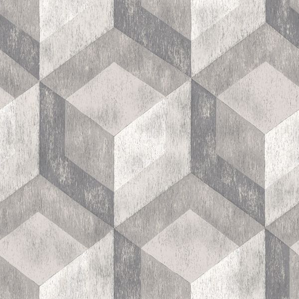 Picture of Bauhaus Weathered Wood Peel & Stick Wallpaper - View