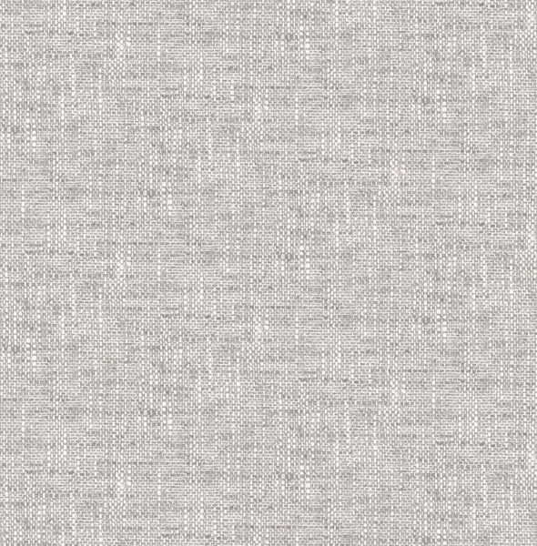 Picture of Grey Poplin Texture Peel & Stick Wallpaper - View